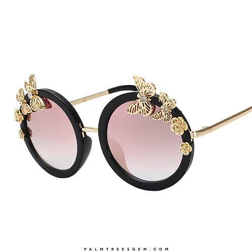 Butterfly Edge Mirror Sunglasses