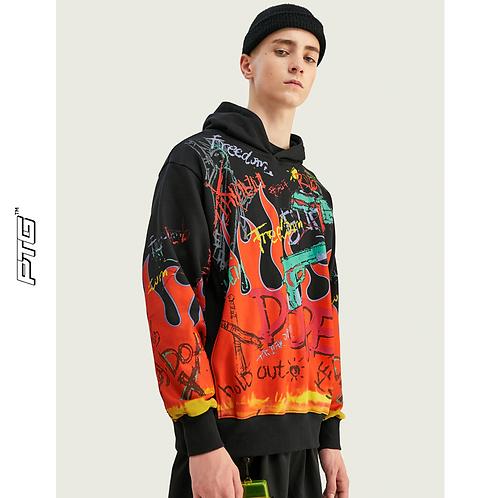Flame Design Hoodie