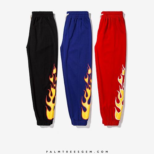 Flame Print Joggers