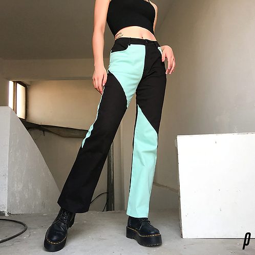 Flare Bottom Abstract Pants