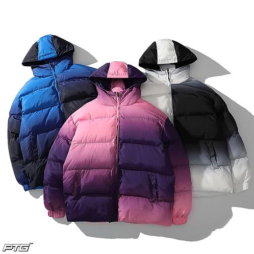 Faded Colors Bubble Coat