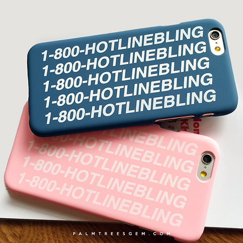 HOTLINE BLING iPhone Cases