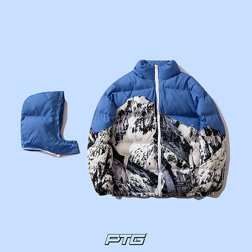 Icy Mountain Bubble Coat