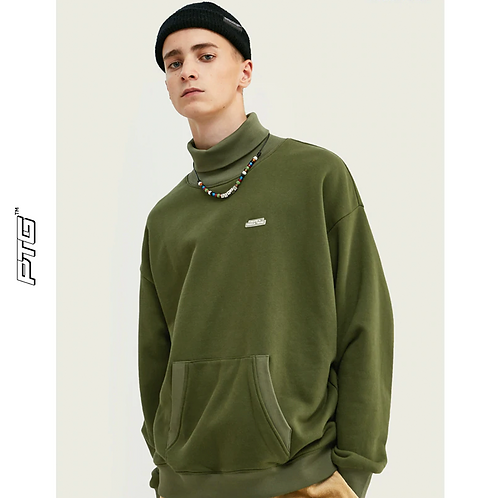 Pouch Turtle Neck Sweatshirt