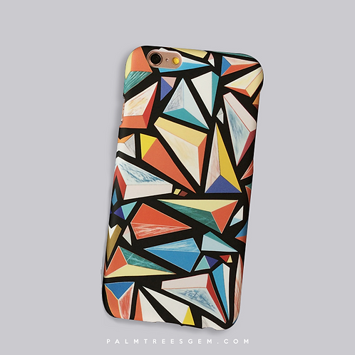 Abstract Polygon iPhone Case