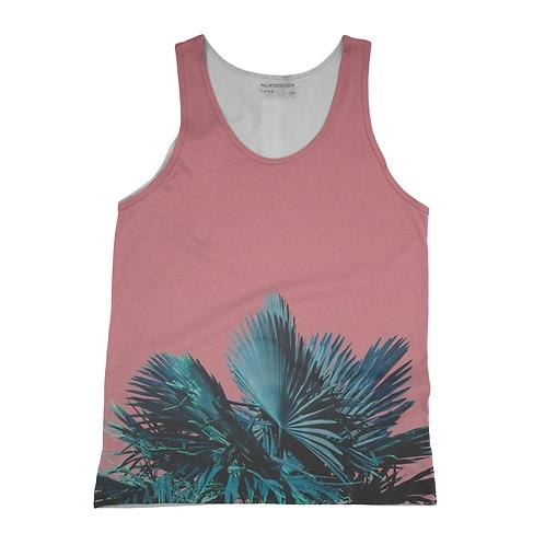 Pink Palm Tank Top