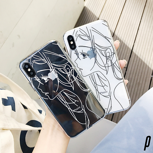 Clear Anime Girl iPhone Case