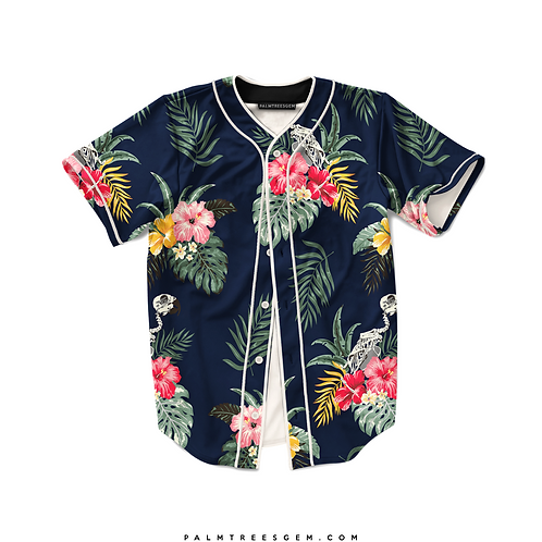 Tropical Vibes Baseball Jersey