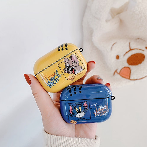 Shiny Tom & Jerry AirPods Case