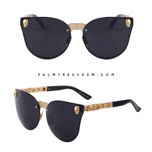 Skull Cateye Sunglasses