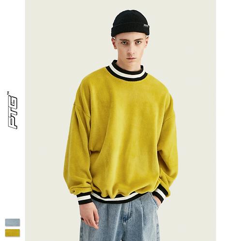 Fuzzy Stripe Sweatshirt