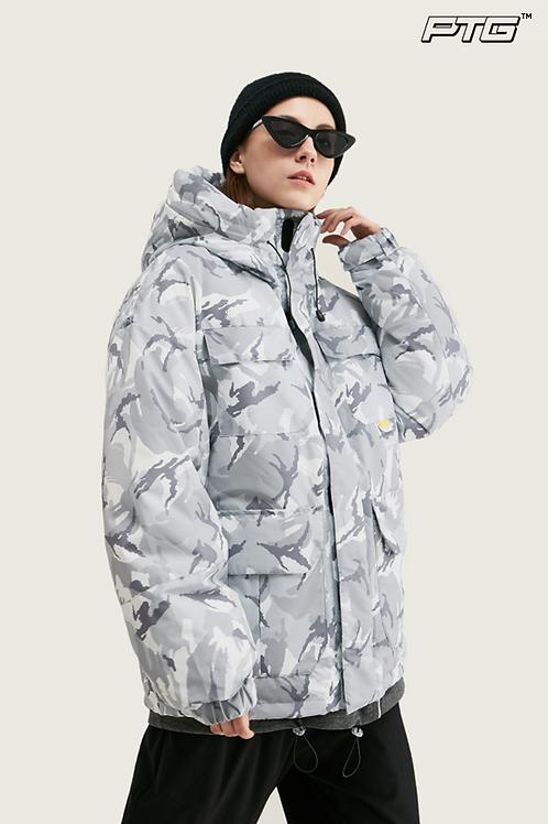 Silver Camo Hooded Jacket