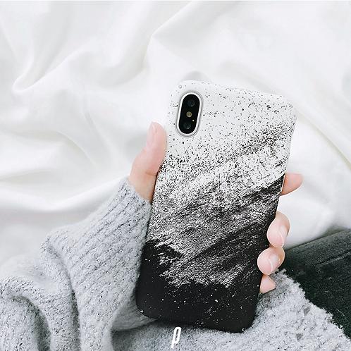 Splat White & Black iPhone Case