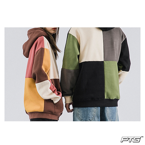 Toned Patchwork Hoodie