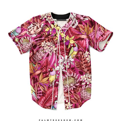 Vibrant Floral Life Baseball Jersey