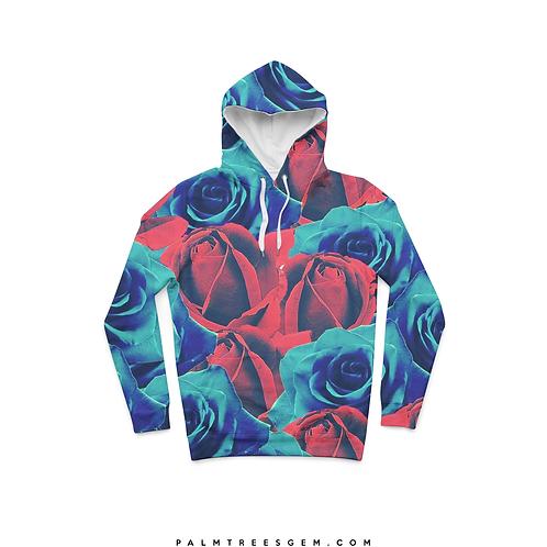Red & Blue Roses Hoodie