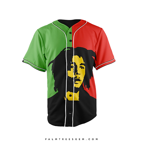 Bob Marley Baseball Jersey