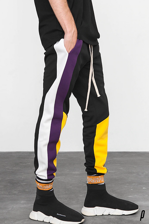 Wealthy Patchwork Joggers