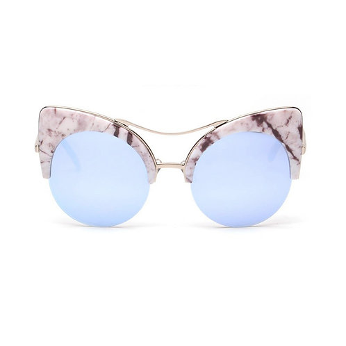 Marble Texture Cateye Sunglasses
