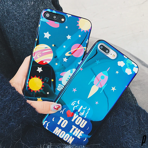 Astro Space Glossy iPhone Cases