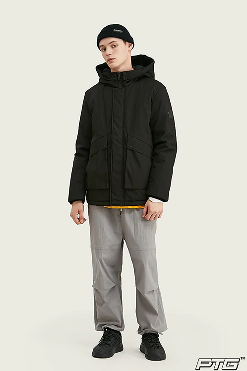 Casual Down Hooded Jacket
