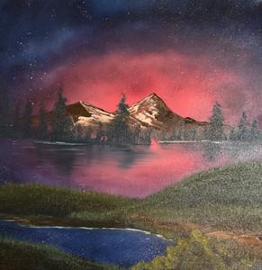 Lake Path At Night