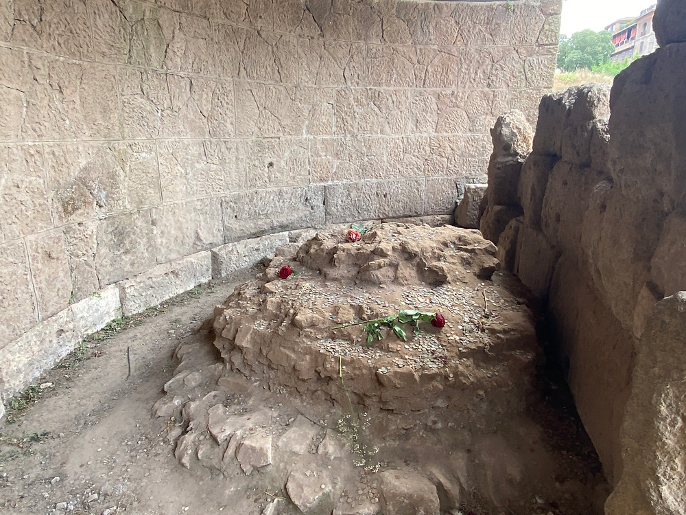 One of the greatest emperors, he was cremated, so this is actually the site of the Temple of Caesar