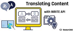 Write API for Translating Content