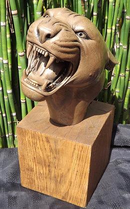 Jaguar Bust (bronze)