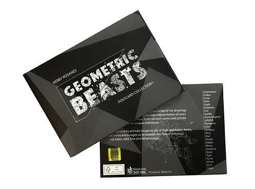 Geometric Beasts Postcard: Collection 1
