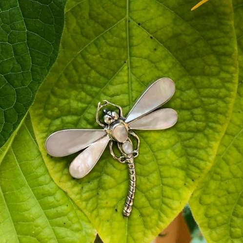 Mother of Pearl Dragonfly Pendant/Brooch