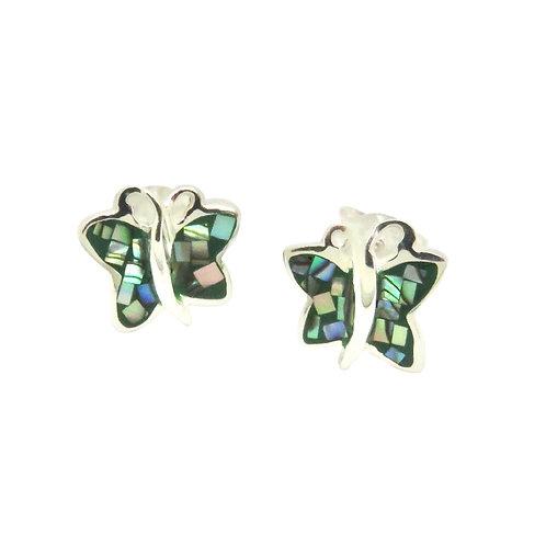 Mosaic Abalone Butterfly Studs