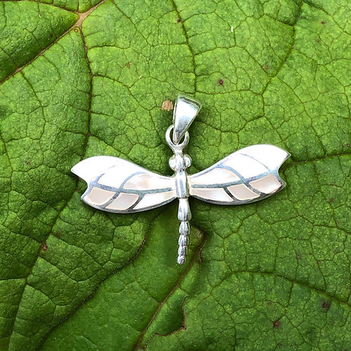Mother of Pearl Mosaic Dragonfly Pendant