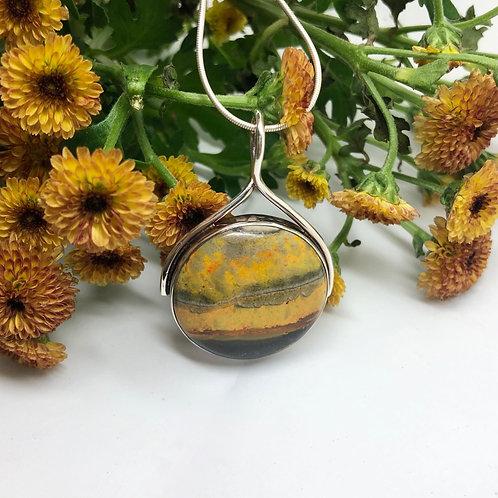 Bumble Bee Jasper Circular Loop Pendant