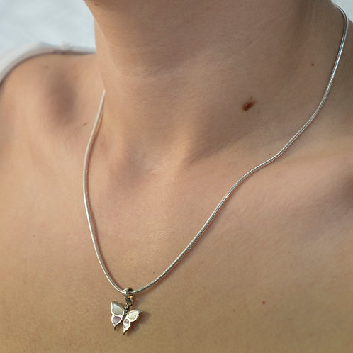Mother of Pearl & Pink Butterfly Set