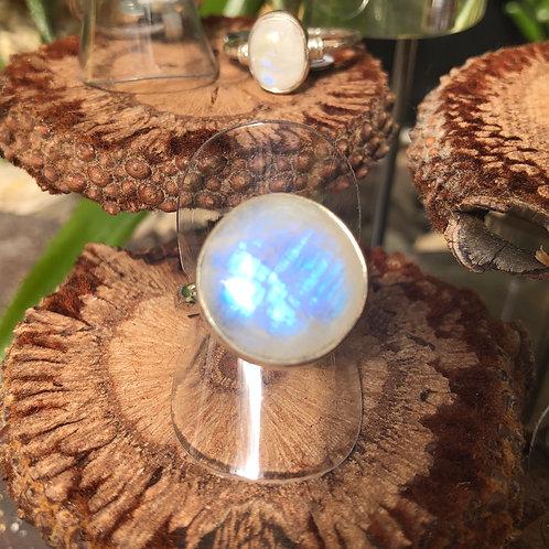 Moonstone Circular Ring