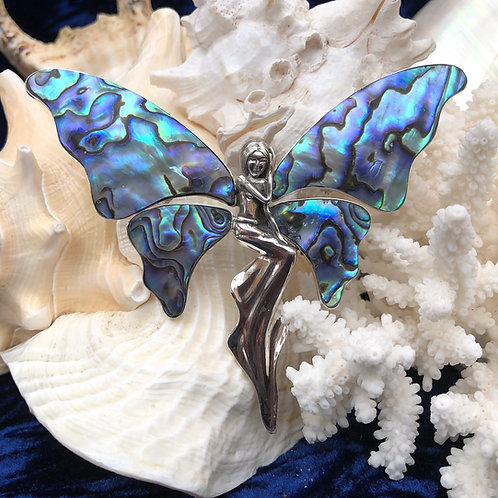 Abalone Fairy Pendant/Brooch