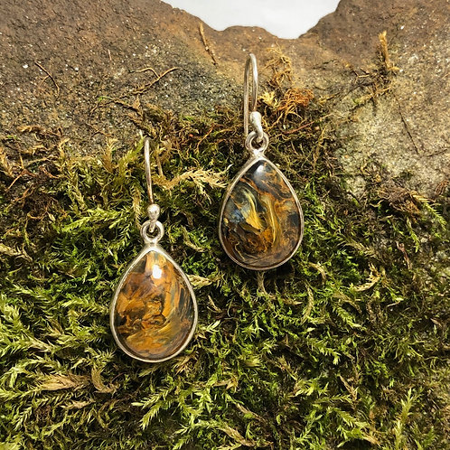 Pietersite Teardrop Earrings