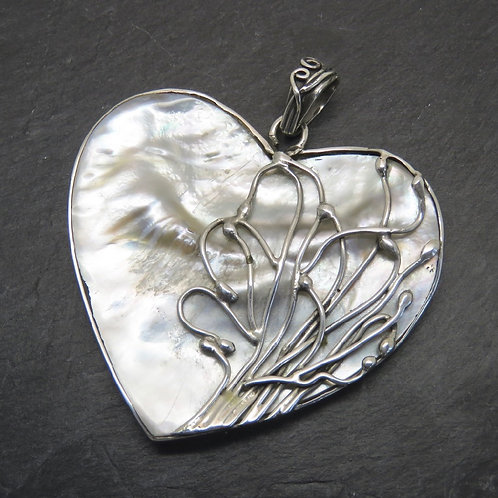 Mother of Pearl Large Heart Pendant