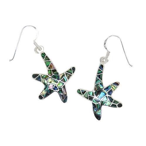 Abalone Starfish Earrings