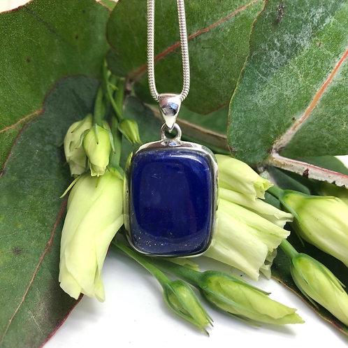 Lapis Lazuli Small Rectangular Pendant