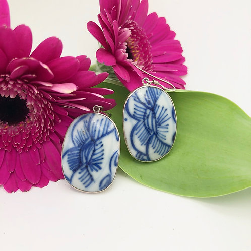 Chinese Porcelain Earrings