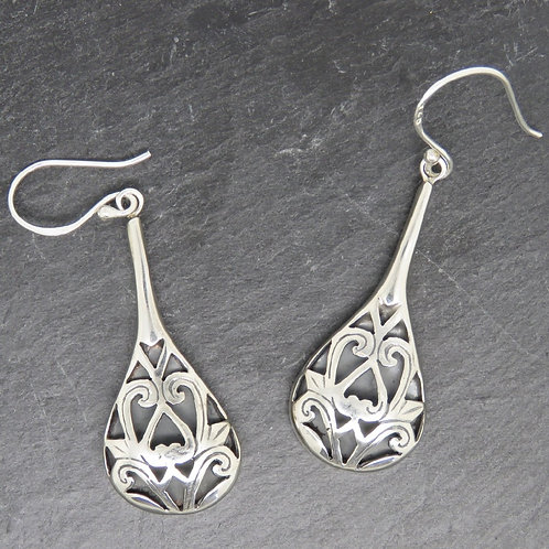 Mother of Pearl Filigree Reversible Earrings