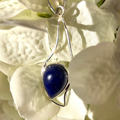 Lapis Lazuli Wave Pendant