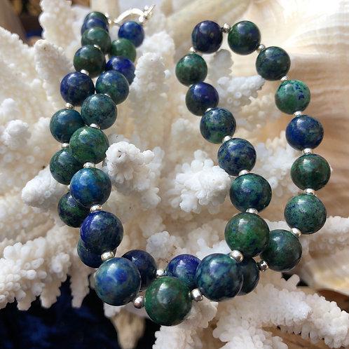 Chrysocolla / Malachite Beads