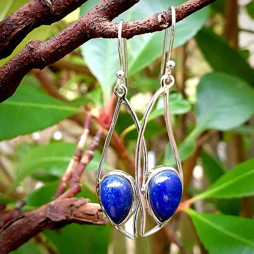 Lapis Lazuli Wave Earrings