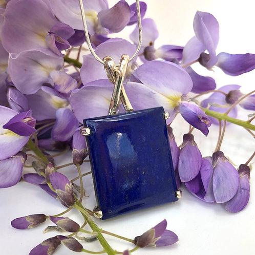Lapis Lazuli Criss-Cross Pendant