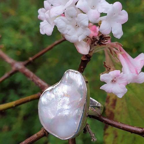 Baroque Pearl Adjustable Ring