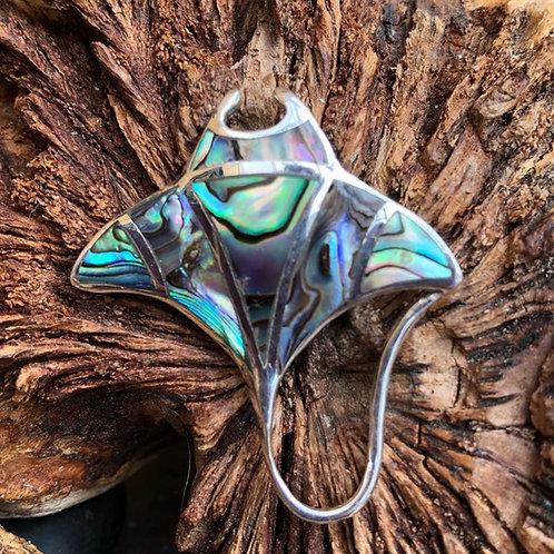 Abalone Manta Ray Pendant