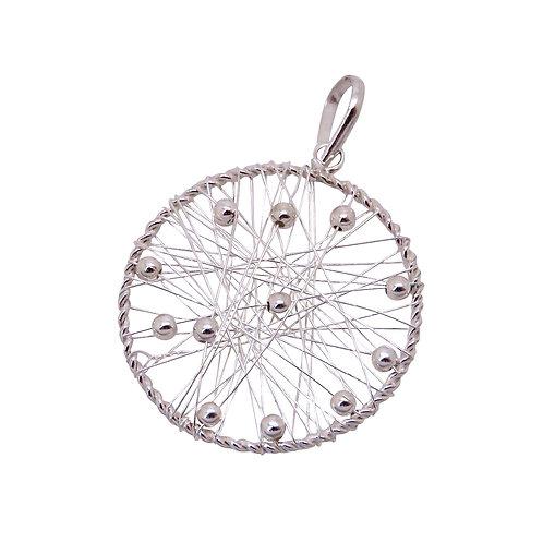 Silver Wire Circle Pendant